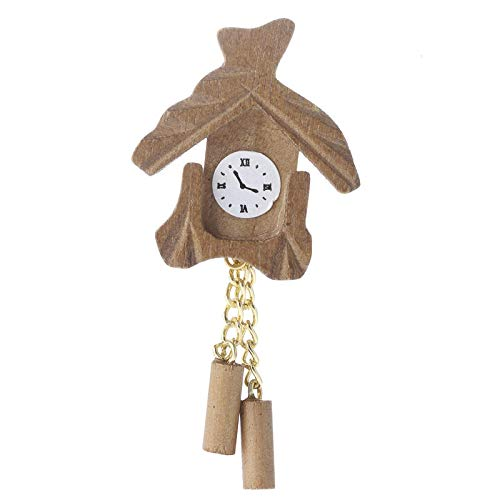 Factory Direct Craft Dollhouse Miniature Cuckoo Clock | 6 Pieces