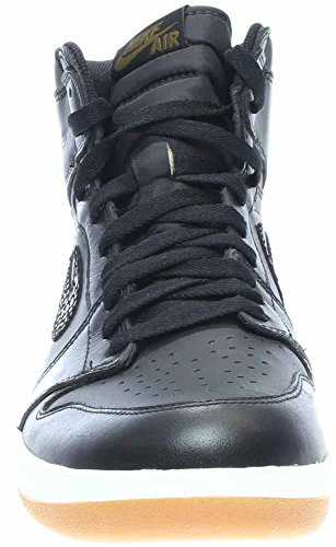 Nike Jordan Herren Air Jordan 1 High Der Return Basketballschuh Schwarz / Miliz Grün / Weiß