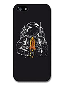 Astronaut Illustration Space Shuttle Ice Cream Case For Ipod Touch 4 Cover