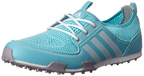 adidas Women's W CC Ballerina II Golf Shoe, Clear Aqua/Running White/Matte Silver, 7 M US