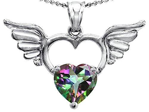 Star K Sterling Silver Wings Of Love Birth Month Pendant Necklace