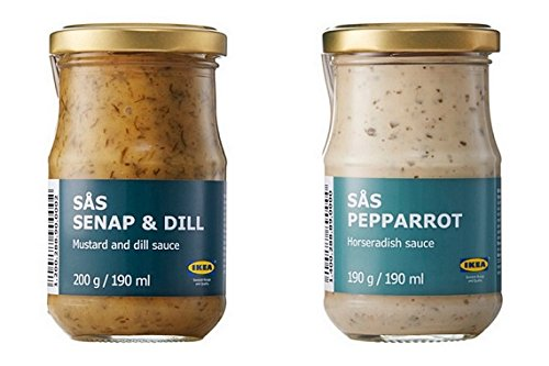 sas-senap-dill-sauce-for-salmon-and-sas-pepparrot-horseradish-sauce