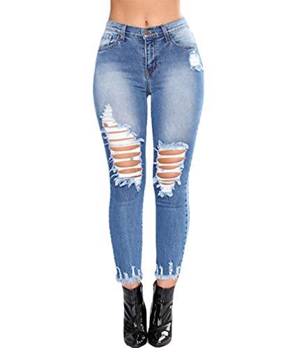 Mode Pencil Droite Coupe Yujeet Sexy Femmes Slim Denim Serr Fonc Bleu Pantalon Jeans Confortable 5YvqTxv8S