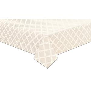 Amazon.com: Lenox Laurel Leaf 90 Round Tablecloth, White