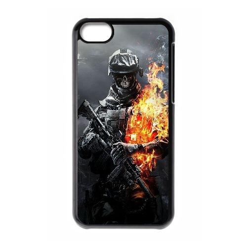 Battlefield Skulls incendie Soldat CE34MS8 coque iPhone Téléphone cellulaire 5c cas coque E3FV0L8HH