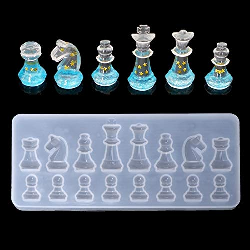 Measurement Smart Bookmarks - Resin Mold Silicone International Chess Shape Silicone Mold DIY Clay UV Epoxy Resin Mold Pendant Molds for Jewelry