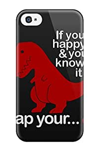 Sanp On Case Cover Protector For Iphone 4/4s (funny Dinosaur )