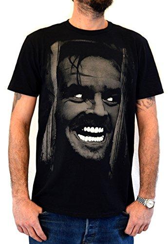Faces Mens T-Shirt Shining Jack Nicholson Water Colors Screen Print (M Men) Black