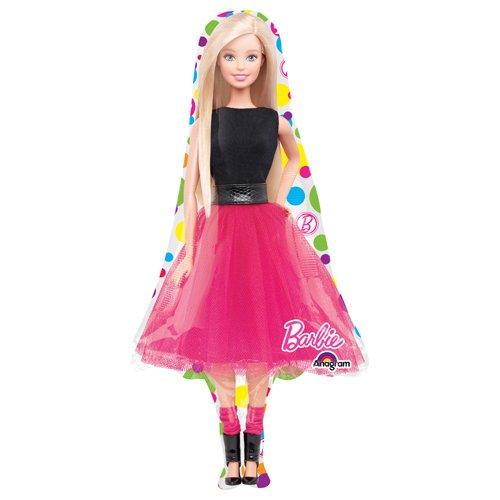 Anagram 30655 Barbie Sparkle Supershape Foil Balloon, 42