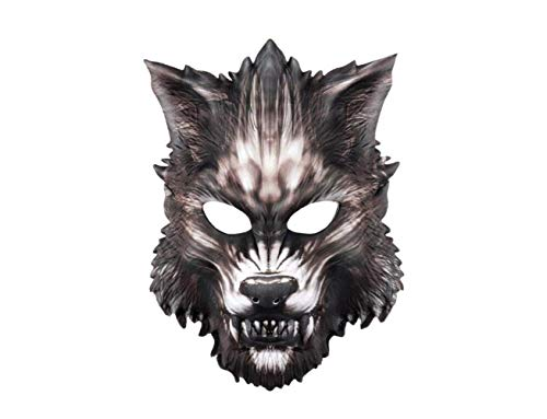 Halloween Animal Mask Wolf Head Mask Masquerade Party Supplies,A,A