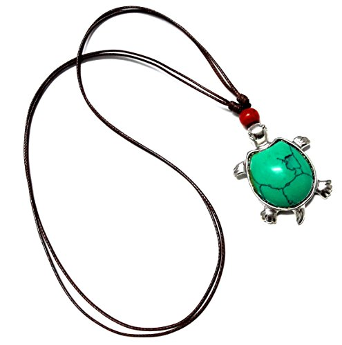 Turtle Necklace Turquoise Color - Sea Turtle Necklace - Hawaiian Turtle Necklace - Beach (Mother Nature Adult Plus Costumes)