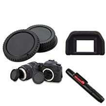 Everydaysource Pen+Eyecup+Camera Body+Rear Cover Cap Compatible With Canon Digital Rebel T2I/T3/T3I/XSI