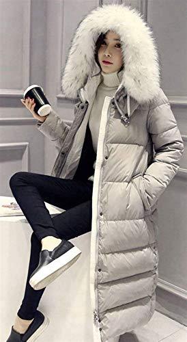 Moda Addensare Piumino Con Parka Invernale Grau Calda Grazioso Outdoor Piumini Cappuccio Invernali Pelliccia Manica Cappotti In Lunga Eleganti Donna Casual apxwfEOq