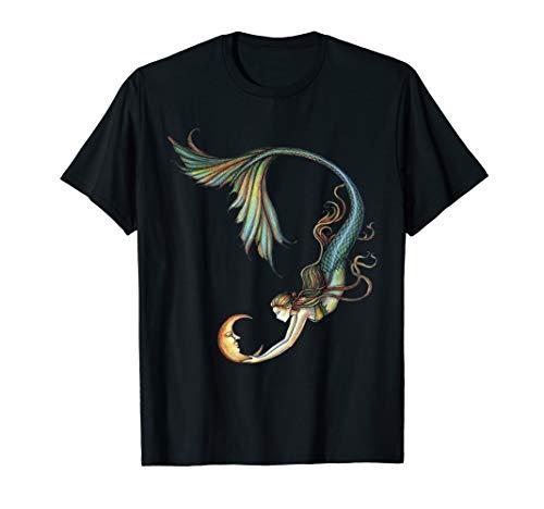 MIAPRINTSPRO Mermaid With Moon Mermai Shirt For Women -