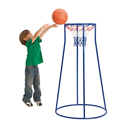Easy Score Basketball Set Toys - Excellerations Oversized Rim, Easy Score Basketball Hoop Set for Kids (Item #HOOP5)