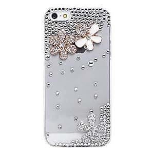 GONGXI-Cerezo patrón de metal de la joyería de nuevo caso para el iPhone 5/5S
