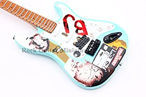 rgm183 billie joe armstrong green day miniature guitar including leather guitar strap. Black Bedroom Furniture Sets. Home Design Ideas