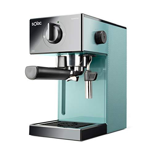 Solac-CE4504-Squissita-Easy-Blue-Cafetera-espresso-20-bar-Double-Cream-Espresso-y-Cappuccino-1050-W-Portafiltros-1-o-2-cafes-Monodosismolido-Vaporizador-de-acero-inoxidable-15-l-Azul