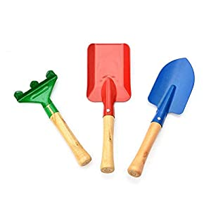 Depory - Set di 3 attrezzi da giardino colorati, pala per bambini 8 spesavip