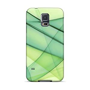 XXC1656tVuL Case Cover Green Lines Galaxy S5 Protective Case
