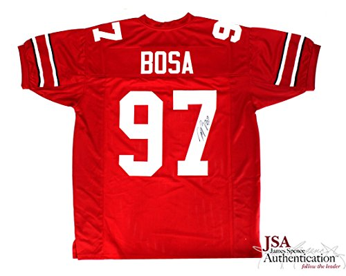 - Joey Bosa Autographed/Signed Ohio State Red Custom Jersey