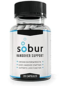 Sobur Hangover Pills - #1 Rated Hangover Cure Featuring 300mg DHM / Dihydromyricetin / Hovenia Dulcis / Ampelopsin & Liver Protecting Vitamins For Lasting Hangover Relief and Recovery. The Only Hangover Pill Featured in New Scientist & Wired Magazine
