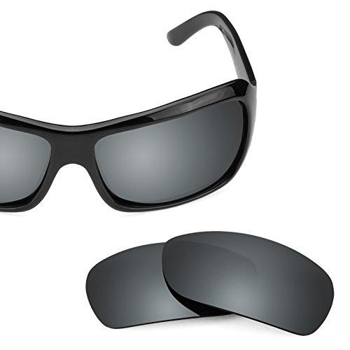 Verres de rechange pour Maui Jim Palms 63mm MJ111 — Plusieurs options Noir Chrome MirrorShield® - Polarisés