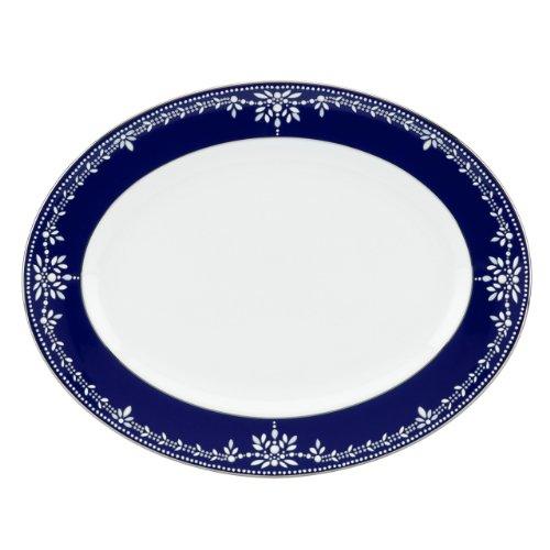 Lenox Marchesa Couture Oval Platter, Empire Pearl Indigo
