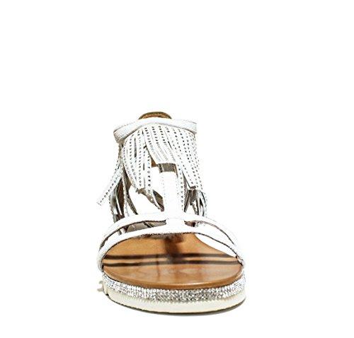 La Famme SF02-2 zapatos de las sandalias del talón, talón, NUEVO VERANO COLECCIÓN PRIMAVERA 2016 CUERO ante beige