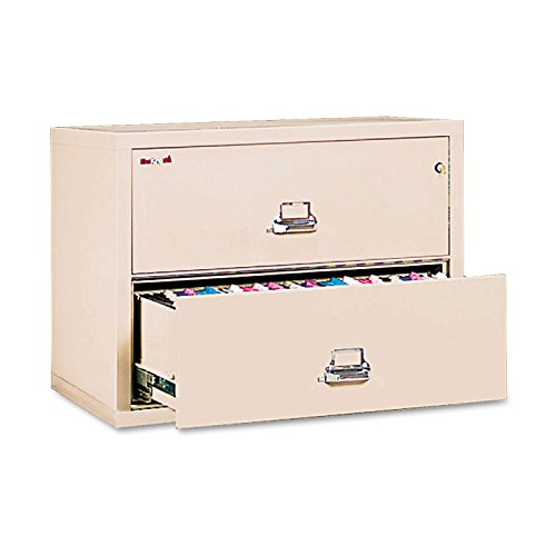- FireKing 23822CPA Two-Drawer Lateral File, 37-1/2w x 22-1/8d, UL Listed 350°, LTR/Legal, Parchment