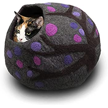Amazon.com : Wool Cat Cave and Bed - Eco Kitty Cave - eco