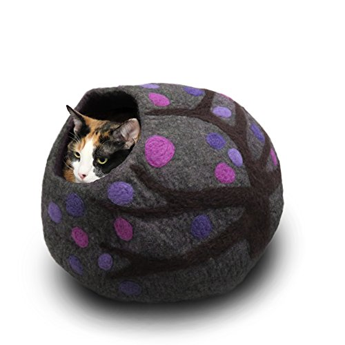 Wool Cat Cave and Bed - Eco Kitty Cave - eco Friendly, fair Trade, Handmade, Organic cat Bed and Hideout - 20