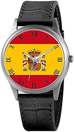 Reloj Bandera de España: Amazon.es: Relojes
