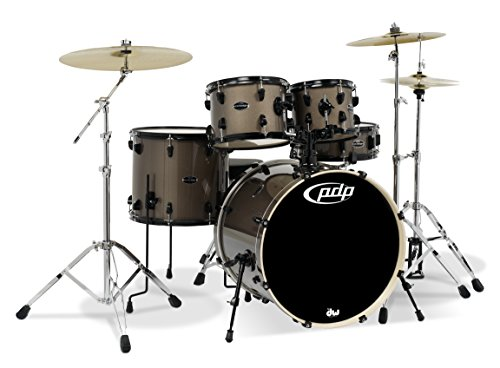 PDP By DW Mainstage 5-Piece Drum Set w/Hardware and Paiste Cymbals Bronze Metallic, inch (PDMA2215P8BZ)