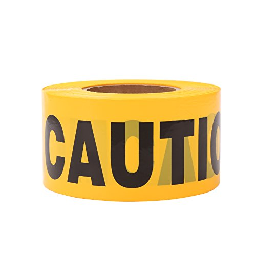 TopSoon Yellow CAUTION Tape Roll 3-Inch by 1000-Feet Non-Adhesive Construction Caution Tape Safety Barrier Tape Ribbon Tape Warning Tape for Danger/Hazardous Areas -