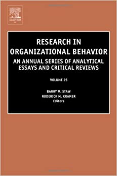Research paper on organizational behavior