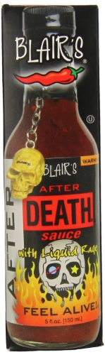 Blair's After Death Sauce with Liquid Rage and Skull Key Chain, 5 Ounce
