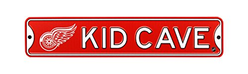 Authentic Street Signs NHL Hockey Officially Licensed STEEL Kid Cave Sign-Decor for sports fan bed room! (Detroit Red Wings)