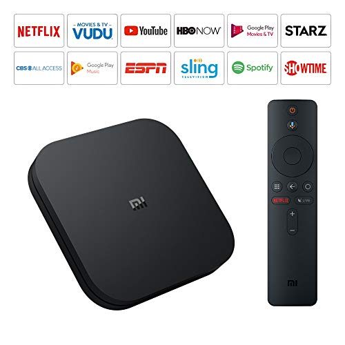 Mi Box S Xiaomi Original - 4K Ultra HD Android TV with Google Voice Assistant & Direct Netflix Remote Streaming Media Player US Plug