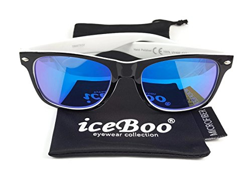 de Blue iceBoo® Black White soleil outer lens Homme 7934 Lunettes frame 4UUq5