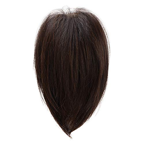 BARSDAR Real Human Hair Toppers for Women Silk Base Top Hairpiece Replacement Straight Toupee for Women Top Piece Short 6