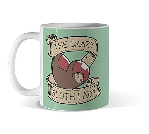 The Crazy Sloth Lady Tattoo 11Oz Mug - Design By Humans -