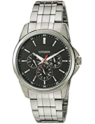 Citizen Mens Quartz Stainless Steel Watch with Day/Date, AG8340-58E