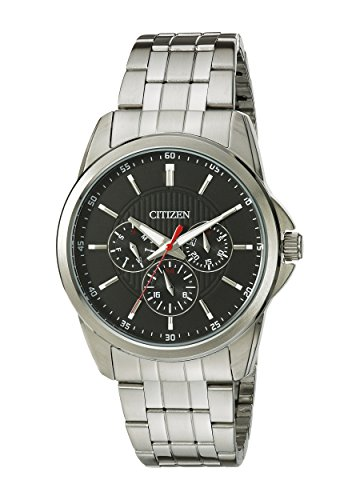 Citizen Men's Quartz Stainless Steel Watch with Day/Date, AG8340-58E ()