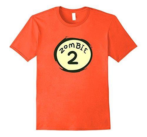 Mens Zombie 2 Funny Couple's Halloween Costume T-Shirt XL Orange