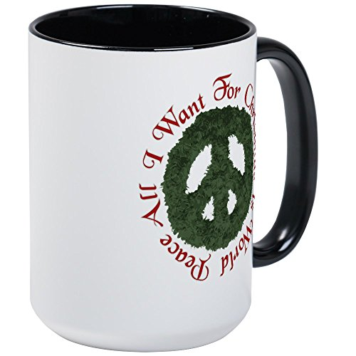 CafePress Christmas World Peace Large Mug Coffee Mug, Large 15 oz. White Coffee Cup