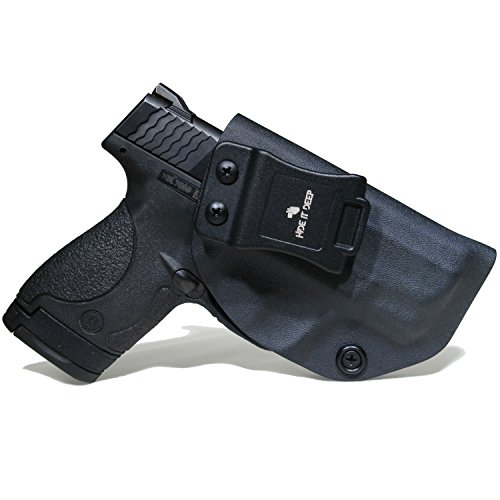 Kydex Gun Holsters - Hide It Deep IWB KYDEX Holster Fits: Smith & Wesson M&P Shield 9MM/.40 S&W – Black Concealed Carry Holster |Great for both Men and Woman (Right Hand Draw)