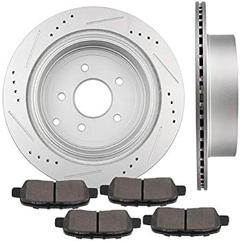 Max Brakes Premium OE Rotors with Carbon Ceramic Pads KT084142 Rear