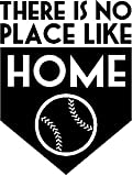 Baseball There Is No Place Like Home Vinyl Wall Decal 13'' X 17'' Kids Room Sports