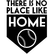 Baseball There Is No Place Like Home Vinyl Wall Decal 13  X 17  Kids Room Sports